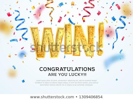 Winnen witte succes overwinning Stockfoto © vinnstock