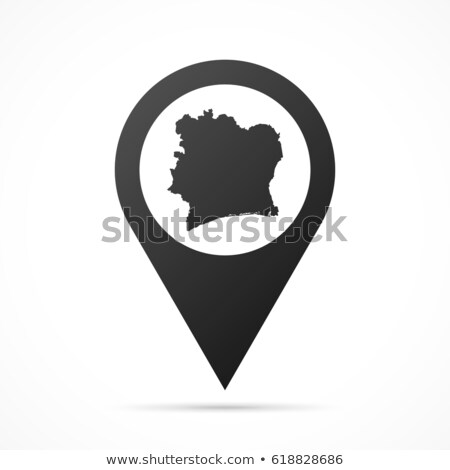 High detailed vector map of Ivory Coast with navigation pins. Stock photo © tkacchuk