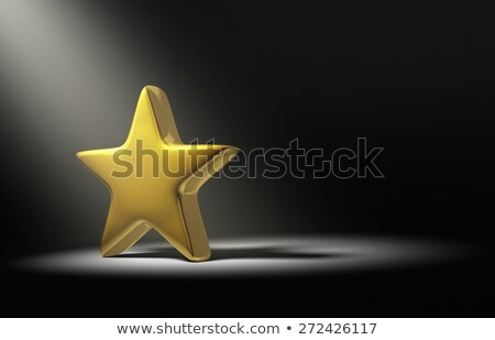 Foto d'archivio: Oro · star · riflettori · buio · dietro · sopra