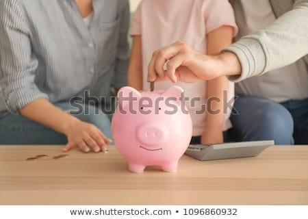 Szükség pénz számológép eredmény elektronikus kávé Stock fotó © fuzzbones0
