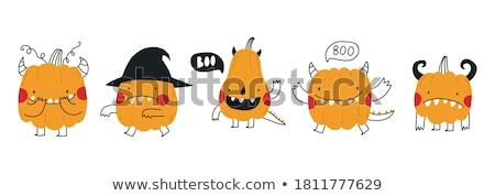 cute halloween baby pumpkin vector illustration stock photo © carodi