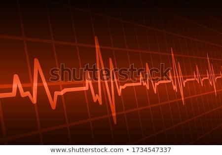 Szívdobbanás monitor illusztráció egészség kórház gyógyszer Stock fotó © Morphart