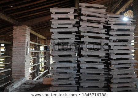 Piles of roof tiles made of pottery Stock photo © bbbar