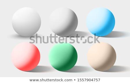 クロム ボール 現実的な 孤立した 白 ストックフォト © Fosin