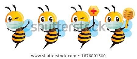 Mascot Bee Doctor Honey Stock photo © lenm