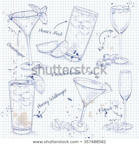 New Era Cocktail Set  on a notebook page Stock photo © netkov1