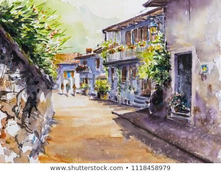 Old Mediterranean village Stock photo © Lizard