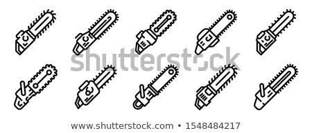 Stock photo: a motor saw