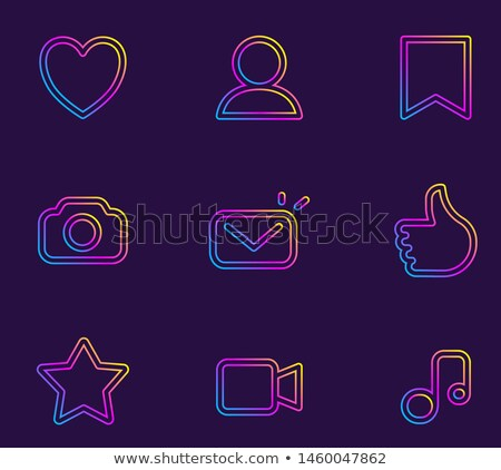 social app icon background in line art syle stock photo © cienpies