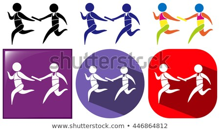 Relay running icon in three designs Stock photo © bluering