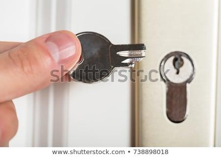 Gebroken sleutel gouden witte spleet vernietiging Stockfoto © papa1266