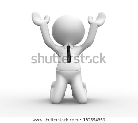 3D empresario rezando ilustración aislado blanco Foto stock © 3dmask