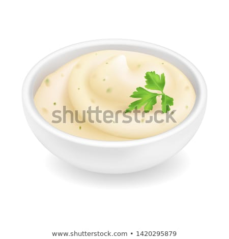 マヨネーズ · ドレッシング · パセリ · 切り · 皿 · ボウル - ストックフォト © peteer