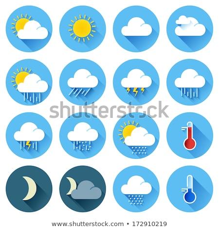 vektör · renk · hava · durumu · meteoroloji · ikon · uzun - stok fotoğraf © MarySan