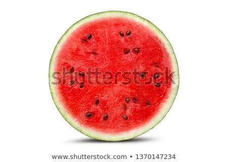 Fél görögdinnye semleges piros szín eszik Stock fotó © Leftleg