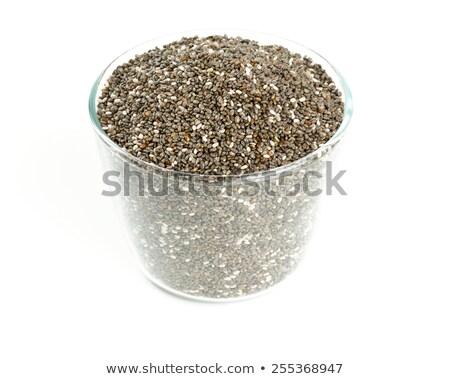 Chia seeds in a glass bowl Stock photo © Karpenkovdenis