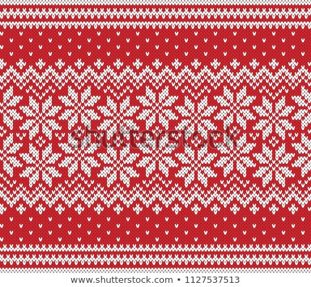 knitted winter seamless pattern vector illustration stock photo © carodi