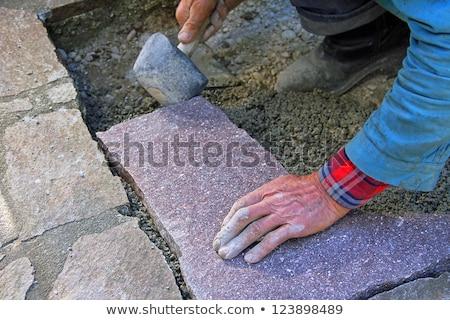 nehéz · utasítás · munkás · vág · fém · elektromos - stock fotó © simply