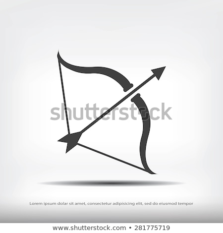 bow with arrow icon stock photo © angelp