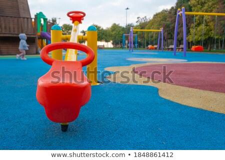 Pormenor assento crianças balançar preto cadeia Foto stock © jarin13