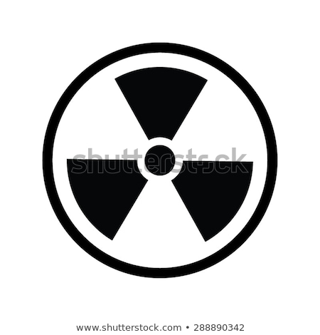 The radiation vector icon. Radiation symbol. Stock photo © Hermione