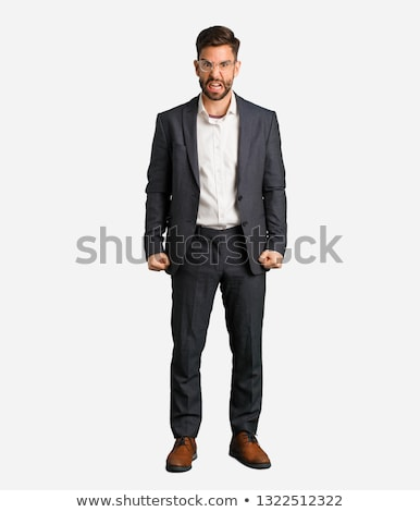 young caucasian angry businessman screaming stock photo © rastudio