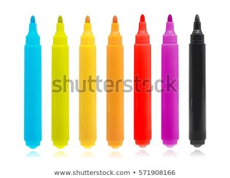 カラー 鉛筆 紙 孤立した 白 ストックフォト © julenochek