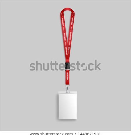 Stockfoto: Badge · geïsoleerd · werknemer · witte · kantoor