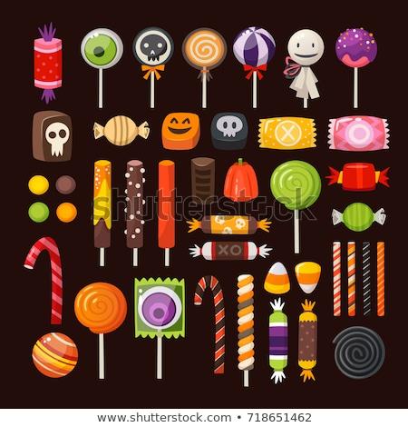 Halloween lolly partij cake snoep dessert Stockfoto © M-studio
