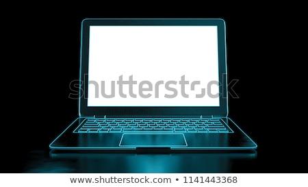 Stockfoto: Hosting · laptop · scherm · landing · pagina