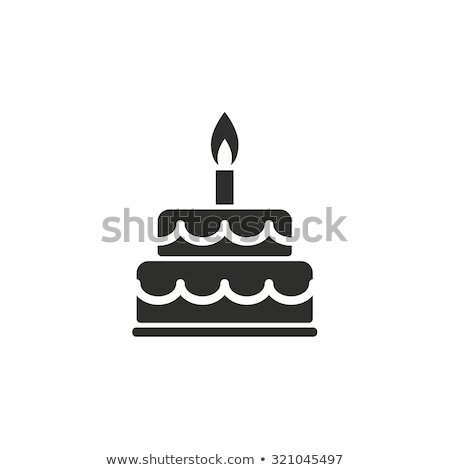 silhouette cake icon with candles  Stock photo © Olena