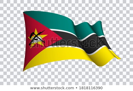 флаг Мозамбик 3d иллюстрации путешествия Сток-фото © MikhailMishchenko
