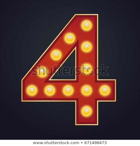 número · vetor · oito · fonte · luz - foto stock © pikepicture