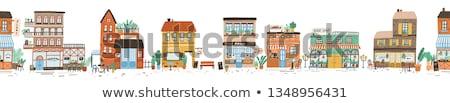 bandeira · desenho · animado · estilo · feliz · barbudo · homem - foto stock © studioworkstock