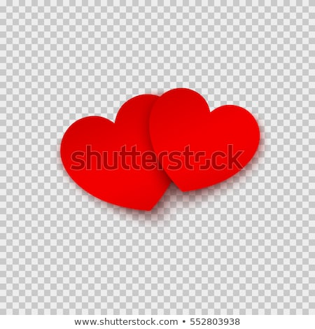 Paper red heart with shadow isolated icon Stock photo © studioworkstock
