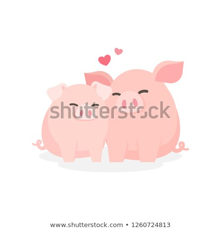 pigs couple stock photo © adrenalina