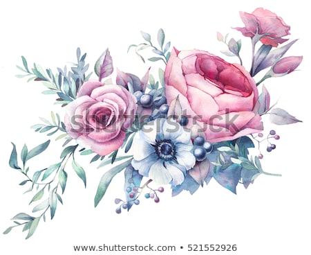 ピンク · 白 · 豪華な · 花 · 葉 · 結婚式 - ストックフォト © purplebird