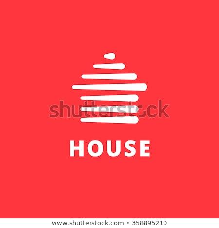 Seta casa logotipo construção abstrato casa Foto stock © taufik_al_amin