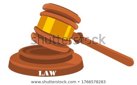 judge knocks the hammer, decision is made Stock photo © studiostoks