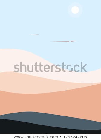 Paper plane flying pattern over  sunset mountain landscape. Stock photo © alexmillos