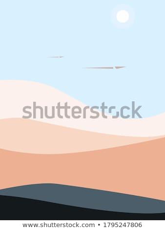 puesta · de · sol · montana · camino · hermosa · forestales · invierno - foto stock © alexmillos