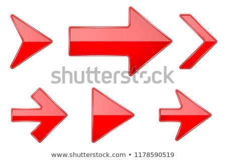 piros · nyíl · ikon · felirat · 3D · renderelt · kép - stock fotó © user_11870380
