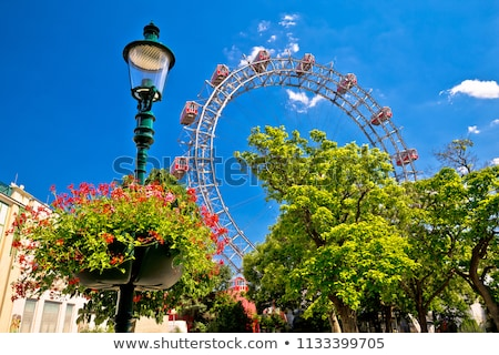prater riesenrad gianf ferris wheel in vienna view stock photo © xbrchx