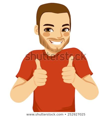 caucásico · hombre · feliz · hombre · blanco · gesto - foto stock © feedough