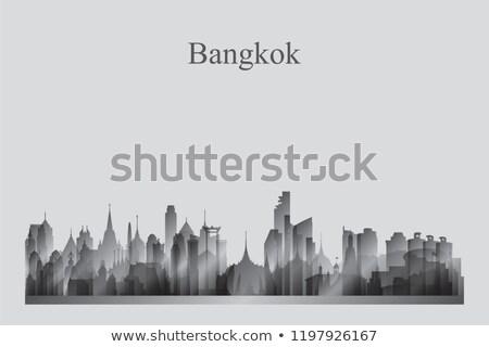 Bangkok silueta ciudad horizonte arquitectura Foto stock © Ray_of_Light