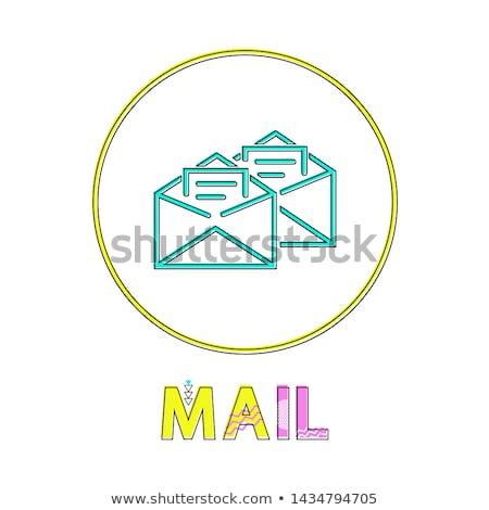 Mail app lineare icona open lettere Foto d'archivio © robuart