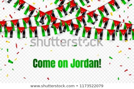 Иордания гирлянда флаг конфетти прозрачный празднования Сток-фото © olehsvetiukha