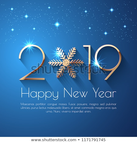 numbers 2019 with design elements and new year greetings stock photo © ussr