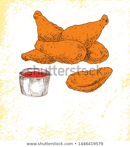 Gambe gustoso ketchup colore poster Foto d'archivio © robuart
