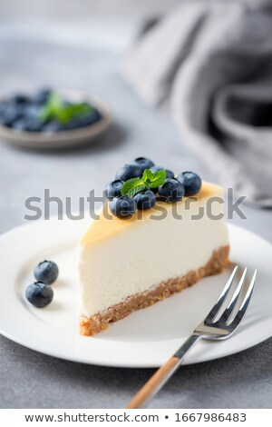 Slice Of Fresh Cake On Plate Stock photo © AndreyPopov